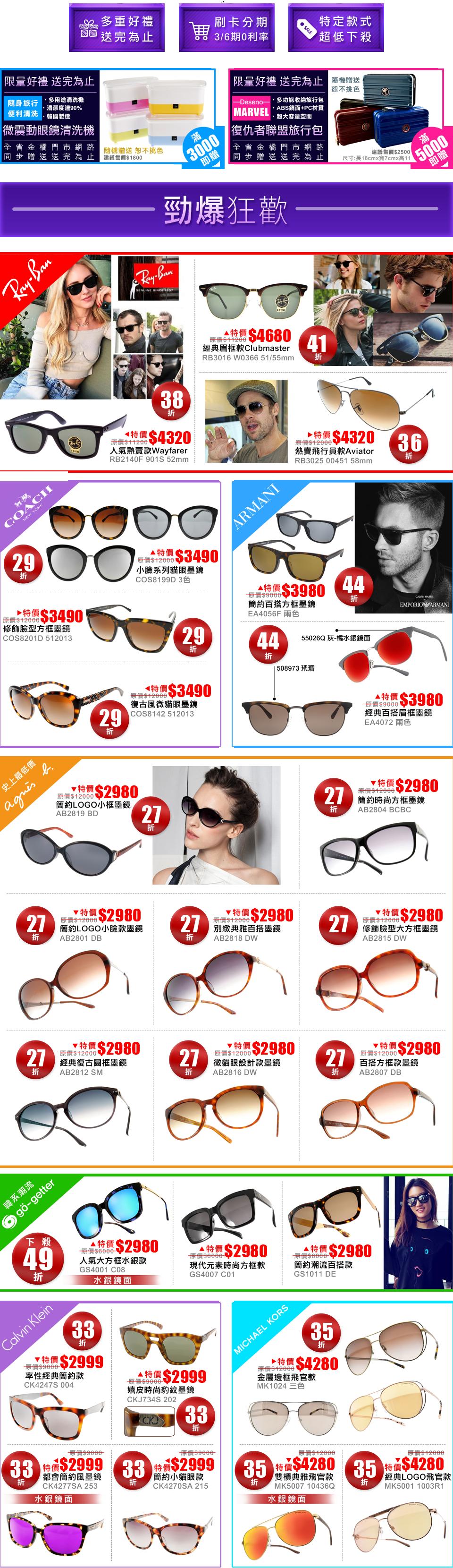 眼鏡品牌優惠